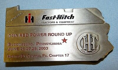 IH International 2003 14th Red Power Round Up Fast-Hitch Pennsylvania Buckle