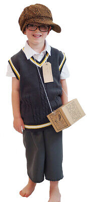 School Curriculum-Historical TANK TOP, CAP, GAS MASK BOX Kids 1940's Wartime Set
