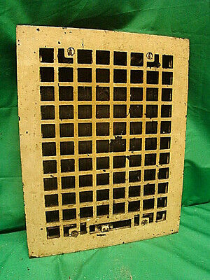 ANTIQUE CAST IRON HEATING GRATE SQUARE DESIGN 14 X 11 f