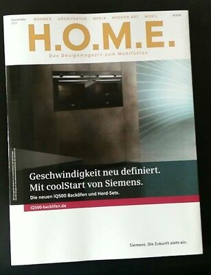 h o m e aktuelle ausgabe oktober 2017 designmagazin home living wohnen eur 2 50 picclick de. Black Bedroom Furniture Sets. Home Design Ideas