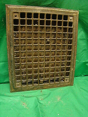 Vintage 1920S Iron Heating Grate Square Design 14 X 12 Hjv
