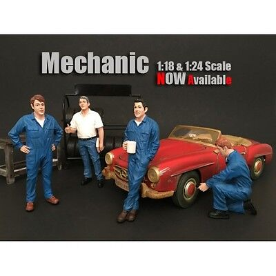 1/24-G Scale American Diorama figure-MECHANIC SET- COMPLETE SET OF ALL 4 FIGURES