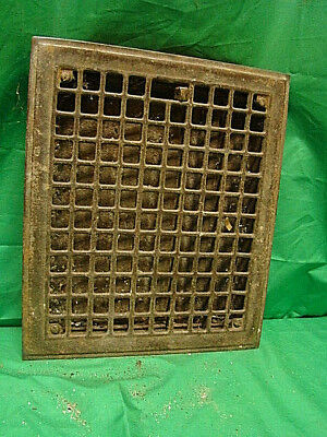 Vintage 1920S Iron Heating Grate Square Design 14 X 12 Gfn