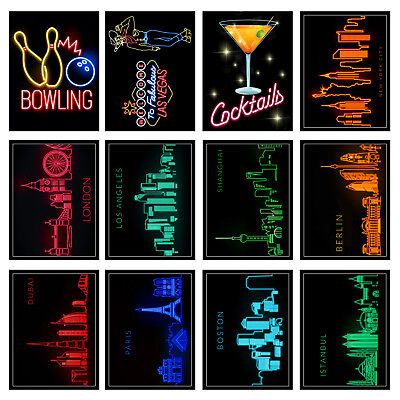 Neon Prints Retro Metal Signs/Plaques Man Cave, Cool Novelty Gift, Home Decor