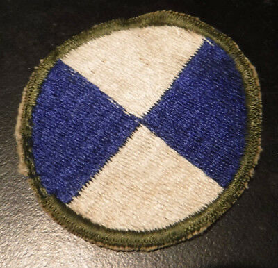 WW2 US Army 4th Corps Military Patch