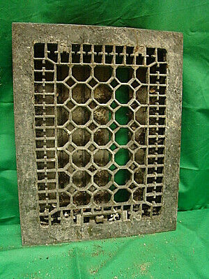 Antique Late 1800'S Cast Iron Heating Grate Honeycomb Design 14 X 11 R