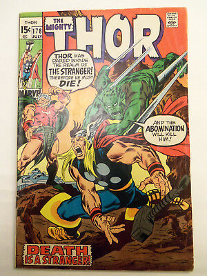1970 The Mighty THOR Stan Lee/ Buscema  #178