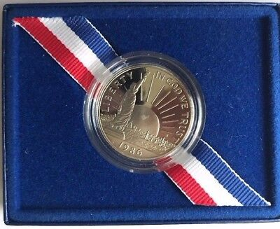 1886-1986 United States Liberty Proof Coin Half Dollar With Box