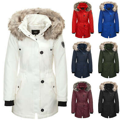 Only Damen Parka Winterjacke Kurzmantel Wintermantel Parkamantel Color Mix NEU