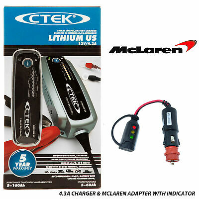 Mercedes Benz SLS Battery Charger 4.3A & Custom Magnetic Adapter