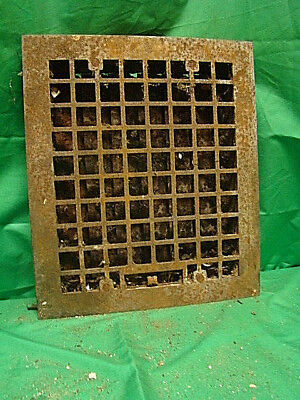 Vintage 1920S Cast Iron Heating Grate Square Design 14 X 12 Jhv