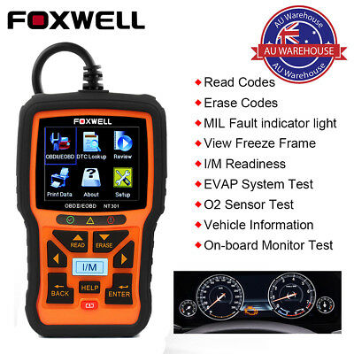 Foxwell NT301 OBD2 Auto Code Reader Car Diagnostic Scan Tool Check Engine light