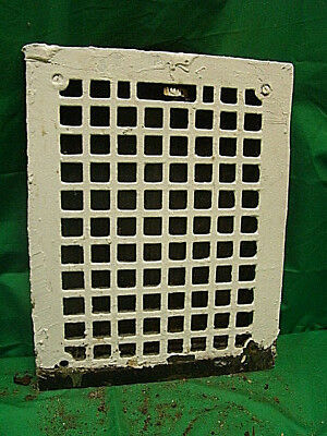 Antique Cast Iron Heating Grate Square Design 14 X 11 Jhg