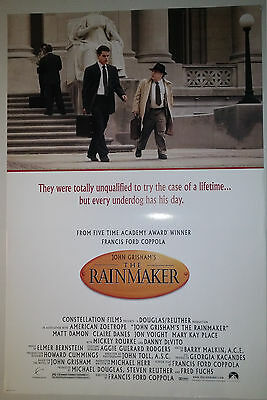 """The Rainmaker (1997) original one sheet movie poster (27""""x40"""") D/S rolled"""