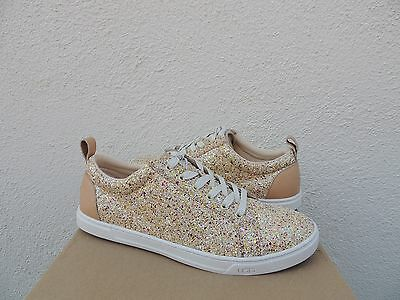 8a9625e2c1aa Ugg Karine Pink Multi Chunky Glitter Leather Lace-Up Sneakers, Us 11/ Eur