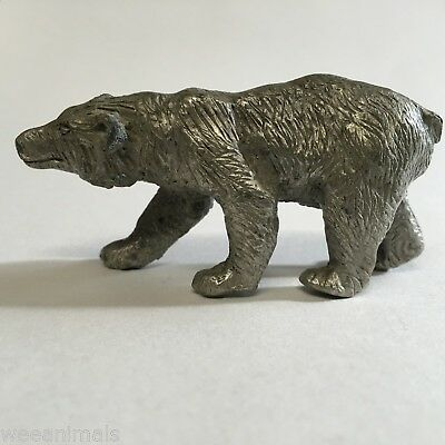 Miniature Pewter Bear