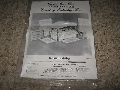 Doll House Embroidery Kit~Bedroom Furnishings~Create Your Own Kit ~New