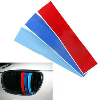 Wholesale 3Color Grille Grill Vinyl Strip Sticker For BMW M3 M5 E36 E46 E60 E90