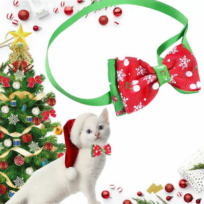 7 Styles Cute Christmas Dog Cat Pet Puppy Bowknot Necktie Collar Bow Tie Clothes