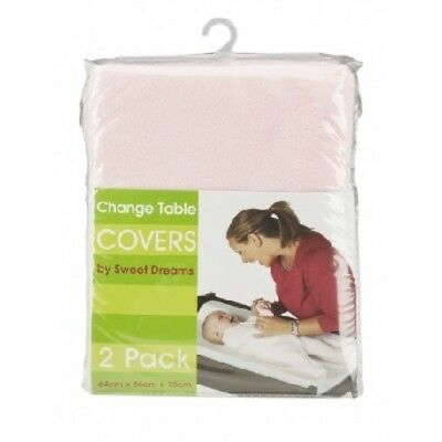 Sweet Dreams - Change Table Mat Pad Cover Covers - 2 Pack - Pink
