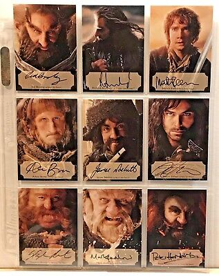 2014 The Hobbit Desolation Of Smaug Poster Autograph Set #/75 Dwarf Auto's (15)