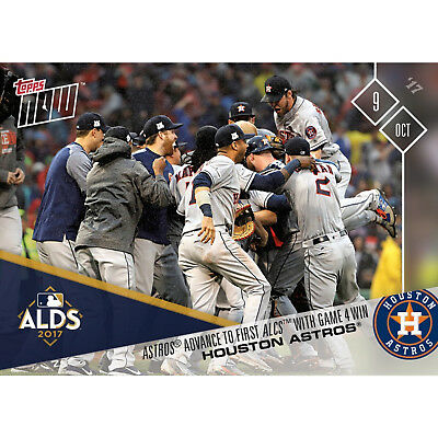 HOUSTON ASTROS WIN ALDS ADVANCE TO 1st ALCS TOPPS NOW 2017 CARD #734 + TOPLOADER