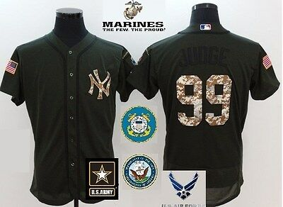 innovative design d8913 d1cd7 AARON JUDGE NEW York Yankees Salute to Service Military Camo Jersey US  seller