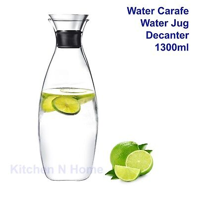 1.3L Water Carafe Pitcher with Flow Lid, Water jug, Decanter,Drip-free iconchef