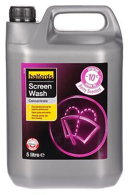 Halfords -10ºC Car Windscreen Windshield Screen Wash Concentrate 5L - Berry