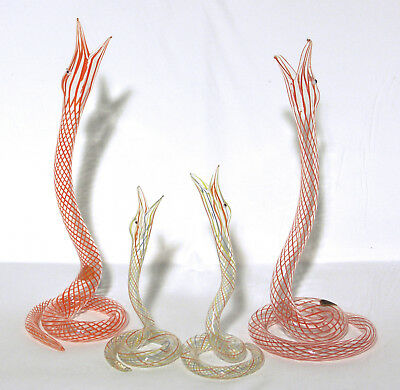 Vintage Bimini/Lauscha Lamp Work Glass Snakes