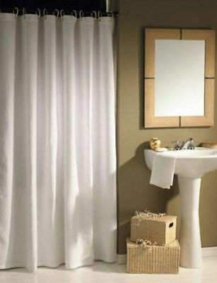 High Quality Extra Long Wide White Polyester Shower Curtain 220 200 190 180