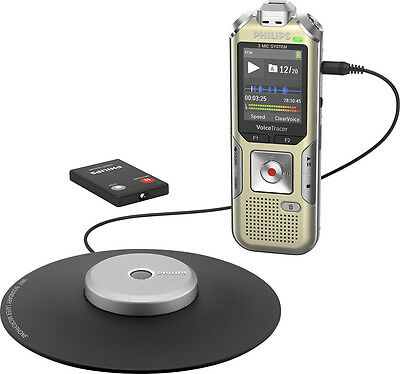 Philips - Voice Tracer Audio Recorder - Champagne/silver shadow