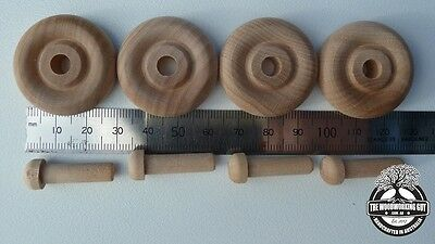 Hardwood toy wheels 32mm -  wooden toy wheels - toy wood wheel - craft wheels
