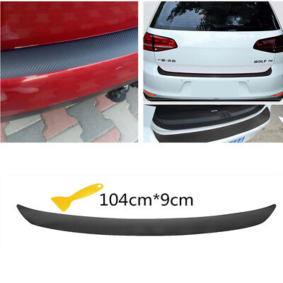 Vehicle Rear Vinyl Film Decal Carbon Fiber Look Sticker Anti-Scratch Waterproof