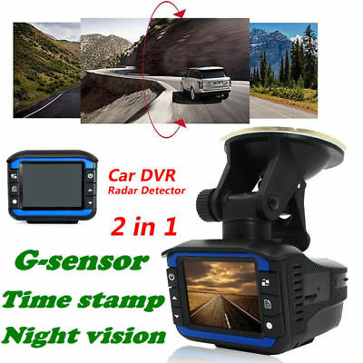 2 IN 1 Car Dash Dashboard Camera Radar Speed Recorder HD DVR Cam G-Sensor UK
