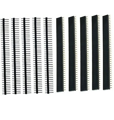 10PCS  Male & Female 40pin 2.54mm Header Socket Row Strip PCB Connector Cool UK