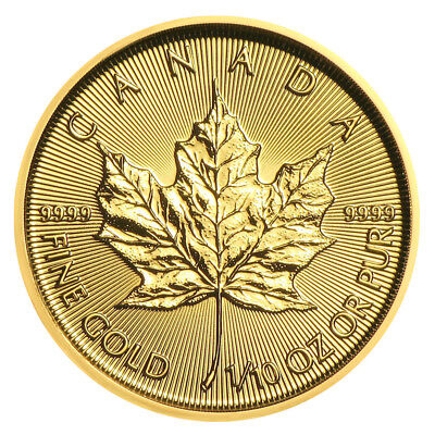 1/10 oz Gold Maple Leaf 2018 - 5 Dollar Kanada Goldmünze 999,9 Stempelglanz