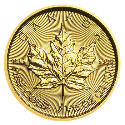 1/10 oz Gold Maple Leaf 2019 - 5 Dollar Kanada Goldmünze 999,9 Stempelglanz