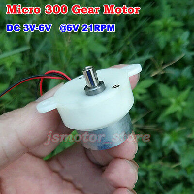 DC 3V 6V 21RPM Slow Speed Worm Small Gear Motor Reduction Box Gearmotor DIY Toy