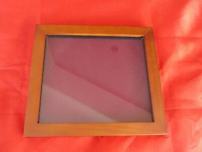 Collectors display case/frame, wall mounting badges, buttons mahogany/burgundy