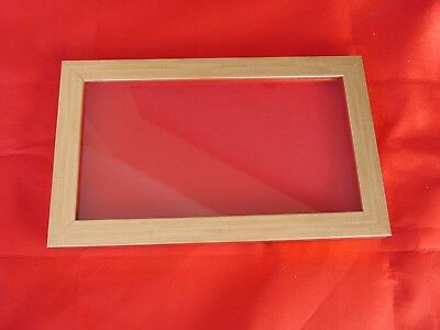 Collectors display case/frame, wall mounting badges, buttons gold/red background