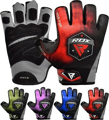 RDX Weight Lifting Training Gym Gloves Bodybuilding Fitness Exercise Workout F12