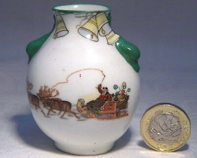 Royal Doulton Miniature Vase Christmas  Santa