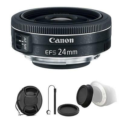 Canon EF-S 24mm f/2.8 STM Lens w/ Accessories For Canon Rebel T3i, T5 and T5i