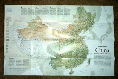Mint 2008 Huge Map Of CHINA & Forbidden City*National Geographic*
