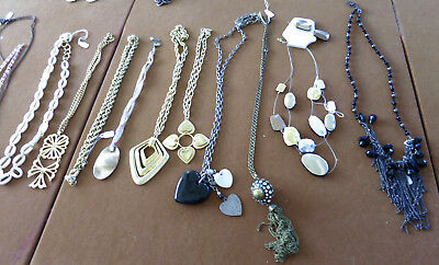 Lot of 17 Vintage Estate Jewelry Misc Necklaces Beads  #14