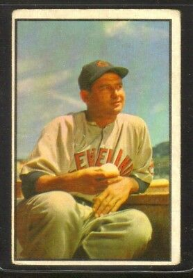 1953 Bowman Color #146 Early Wynn CLEVELAND INDIANS ~ VG