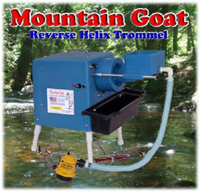 Mountain Goat Reverse Helix Trommel for gold mining prospecting