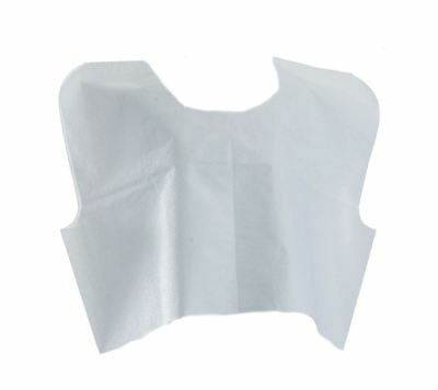 """Disposable Tissue/Poly/Tissue Exam Capes,White,30"""" W X 21""""L, Case of 100"""