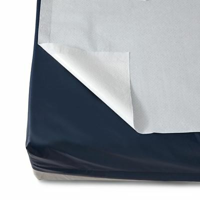 Disposable Flat Bed Sheets,White, Case of 25